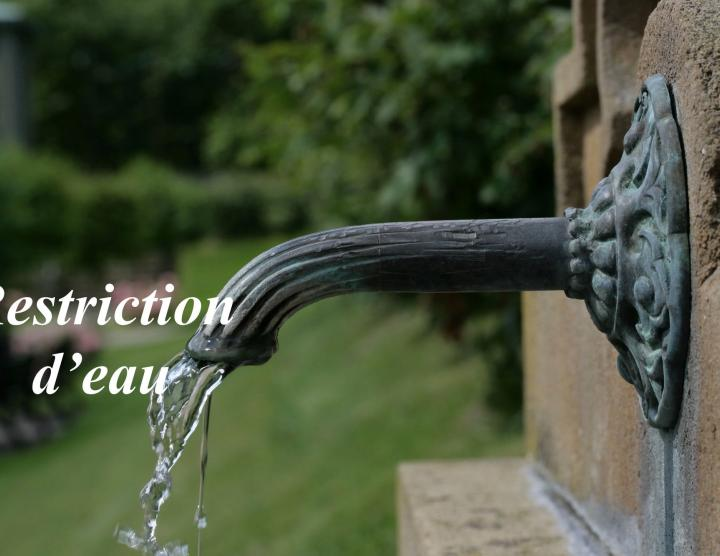 restriction d'eau en Corrèze
